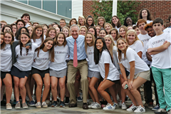 Head of School Mark Davis and the Class of 2018