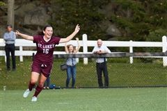 Molly Tierney '18 scored two goals against Masters in a 7-0 win for Girls Varsity Soccer