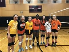 The Orange Team won the 2017 Maroon and White Volleyball tournament