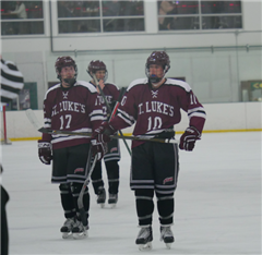 Will Frossell '18 and Ryan Neafsey '18 will lead the St. Luke's Varsity Hockey team this season.