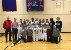 St. Luke's Girls Varsity Basketball won the Miss Hall's Tip-Off Classic for the second straight year