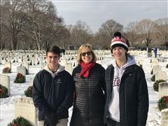 L to R: Christian Pizzarelli '19, CT State Representative Terrie Wood, Wes Meyers '20