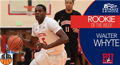 Walter Whyte '17 Rookie of the Week