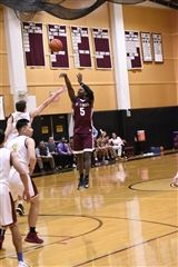 Jonas Harper '18 scored 23 points in St. Luke's win over The Masters School (Photo provided by Chris Mantz)