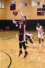 Andrew Varoli '18 helped Boys Varsity Basketball complete an epic comeback against The Hun School