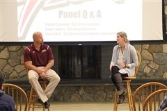 Andy Towers and Caitlin Copelan shared their expertise on college athletic recruitment