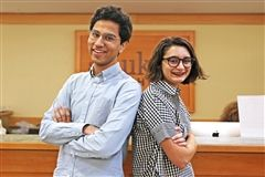Debate Team Co-Captains Bilal Memon and Chloe Kekedjian