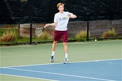 Mitchell Mount '18 will be one of the St. Luke's Boys Varsity Tennis captains this year