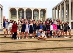 St. Luke's MS Choir students at the Metropolitan Opera