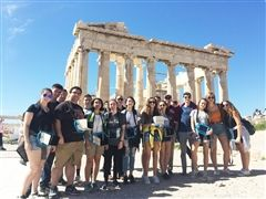 St. Luke's students on Greece trip-Spring Break 2018