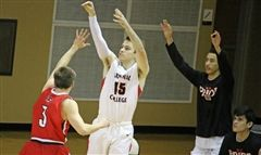 St. Luke's alumnus Sean Culliane '14 became the all all-time leader for three-point accuracy at Grinnell College