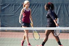 Elizabeth Laub '18 and Cierra Kitt '19 have formed a formidable doubles partnership