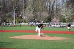 Jack Ellis '21 pitched a great game for St. Luke's Varsity Baseball in a tough 0-1 loss to Hopkins