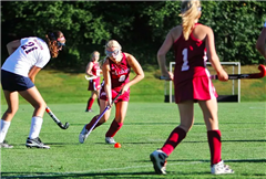 Seeley Fancher '14 playing for the St. Luke's Varsity Field Hockey team.