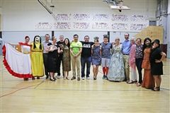 St. Luke's World Language faculty on International Dress-Up Day