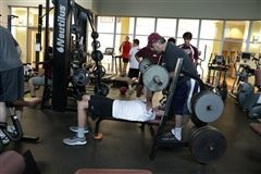 The St. Luke's weight room is open to students and alumni all summer long