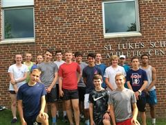 The St. Luke's Varsity Cross Country Team before preseason training