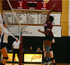 St. Luke's Varsity Volleyball won 3-0 at Homecoming against EF Academy
