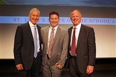 L to R: St. Luke's Mark Davis, Jon Shee, and Board of Trustees President James Andersen