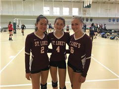 Elyse Kim '21, Karey Balkind '22 and Harper Boege '20 were all selected for the New England Preparatory School Girls Volleyball Association Conference All-Star team