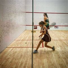 Claire Pellegrino '24 represented the U.S.A. at the British Squash Open