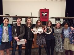 St. Luke's Debate Team at the January 12 Tournament