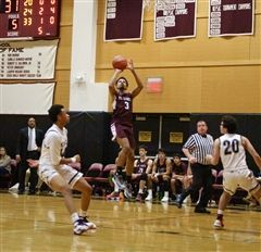 St. Luke's Boys Varsity Basketball beat FAA rival Hamden Hall 72-68 with Chuck Clemons '20 scoring 16 points for the Storm