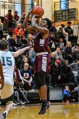 Chris Jones '23 scored 12 points for St. Luke's Boys Varsity Basketball as they beat Brunswick School 72-63 to advance to the FAA Championship game