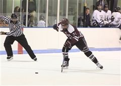 Jack Neafsey '19 scored two goals in the third period for St. Luke's Hockey in a 5-6 loss to Rye