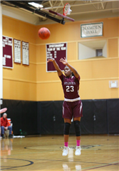 Janelle Johnson '20 hit her 1000th point for St. Luke's Basketball in the 56-52 win over Cheshire Academy
