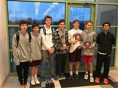 The St. Luke's Boys Varsity Squash team at the New England Interscholastic Squash Association Tournament