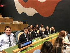 St. Luke's Middle School students participate at Model UN conference