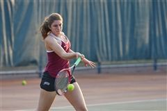 Hannah Amendola '19 will captain the St. Luke's Girls Varsity Tennis team this season with Grace Fitzgibbon '19.