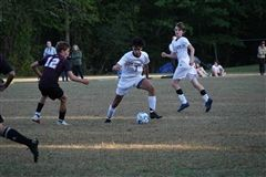 Jake Kavan '21 has scored seven goals for St. Luke's Boys Varsity Soccer so far this season