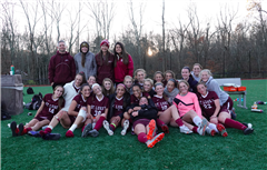 The St. Luke's Girls Varsity Soccer team finished runners-up in the NEPSAC Class C tournament