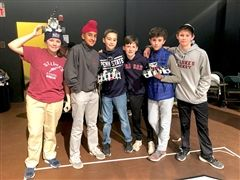 St. Luke's Middle School students at recent robotics competition