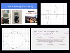 Samples from four different linear math equation project submissions