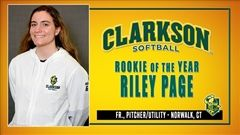 St. Luke's Alumnae Riley Page '19 was named Rookie of the Year for the Clarkson University Softball team