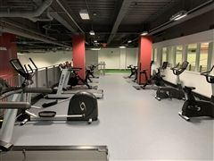 """The Class of 2020 Cardio and Training Mezzanine,"" at St. Luke's is home to six Peloton Bikes, two treadmills, two ellipticals, two rowing machines, and two additional exercise bikes"