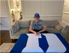 Ryan Higgins '21 signing his National Letter of Intent to play baseball at Duke University