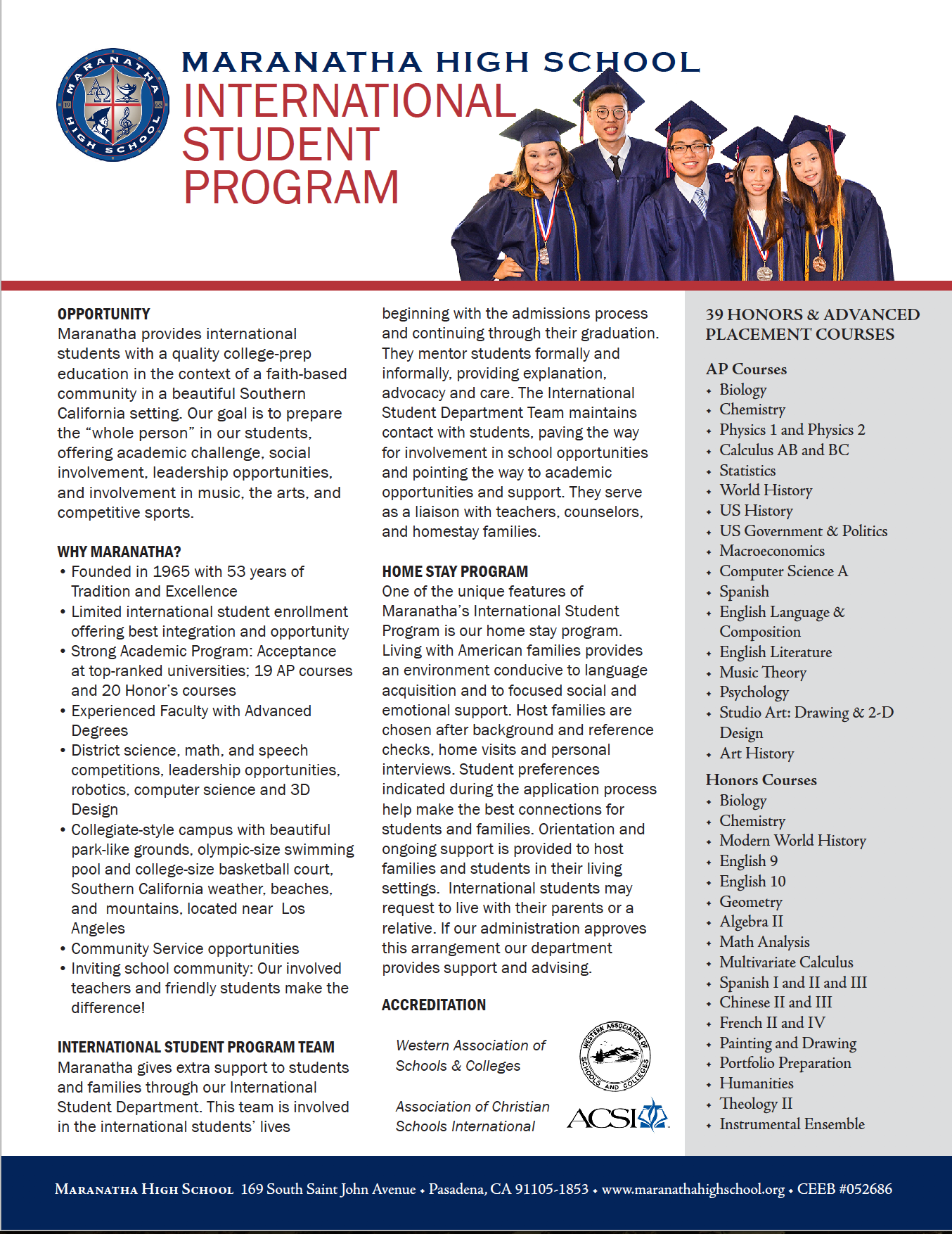 International Program Information Sheet