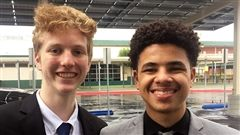 Juniors Jake Anderson and Deven Hollimon finished in the Top 10 in the California Debate State Qualifier