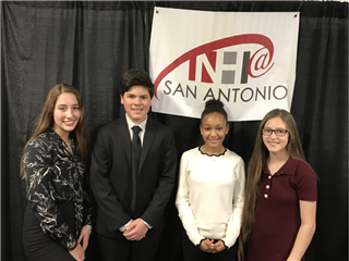 Four TMI Episcopal freshman were inducted into the National Hispanic Institute on Feb. 16 at the University of the Incarnate Word.