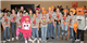 Members of TMI's Pink Panthers and Rowdy Robots teams
