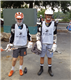 TMI freshmen Alex Belucci, left, and Ethan Lakhia get ready to polish their skills at the Army West Point Lacrosse Camp.