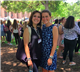 At Bluebonnet Girls State's Capitol Day in Austin, delegate Annie Notzon, right,  a rising senior at TMI Episcopal, catches up with Ana Paula Velasco, a 2017 graduate of TMI and 2016 Girls State delegate who returned for her second year as a counselor.