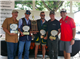 Celebrating their first-place win at the 2017 TMI Alumni Association's Modified Sporting Clay Shoot are members of the team led by alumni Avery Kibbe (second from left) and Justin Kibbe (center), TMI 1992.