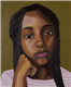 "TMI Episcopal senior Oluwatomike Falebita earned five 2019 San Antonio Scholastic Art Awards for her work, including one of two Gold Key awards for  this painting, ""Banke."" Gold Key works are automatically entered into judging for national awards, to be announced in March."