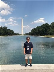 John Offer Jr. at Washington Monument