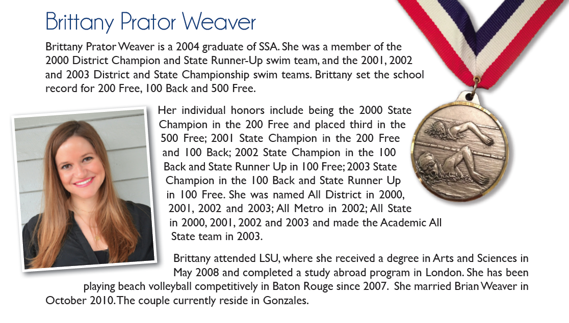 Inductee 2015: Brittany Weaver
